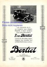Berliet 7 CV Lyon French ad 1925 France Nonplaisir Venissieux advertising
