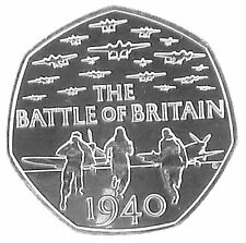 Royal Mint 2015 BU 50p Coin 75th Anniversary Battle of Britain