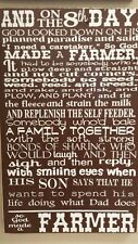 Paul Harvey, God Made A Farmer Wooden Sign