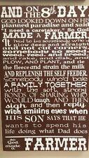 Paul Harvey, God Made A Farmer Wooden Sign