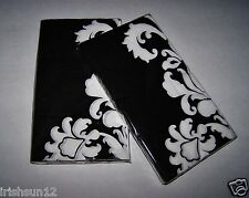 2 Packages DAMASK Black & White NAPKINS-2-ply 32 Guest Buffet Towels-Decoupage