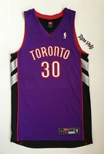 1999 Authentic Pro Cut Dell Curry Toronto Raptors Nike Purple NBA Jersey Size 44