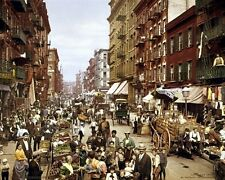 New 11x14 Photo: Crowds of People on Mulberry Street in New York City, 1900