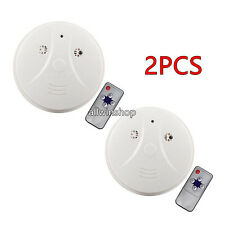 2X Wireless 1080P Spy Smoke Detector Hidden Camera Motion Detect DVR Camera
