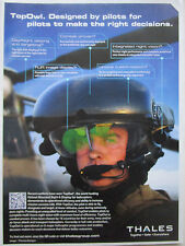 11/13 PUB THALES TOPOWL HELMET MOUNTING SIGHT & DISPLAY PILOT HELICOPTER AD
