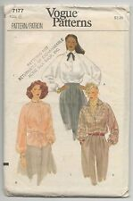 VOGUE 7177 MISSES BLOUSE & EMBROIDERY TRANSFER SEWING PATTERN SZ 6 VTG 1980s
