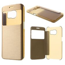 FUNDA S-VIEW FLIP COVER SAMSUNG GALAXY S6 EDGE PLUS DORADA CHAMPAGNE GOLD