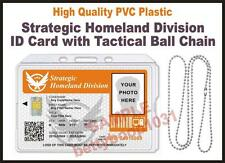 The Division ID Badge / Card (STRATEGIC HOMELAND DIVISION) CUSTOM Tom Clancy