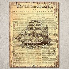 PP0181 OLD Nautical sailing Ship Sign Home Restaurant Cafe Interior Wall Decor