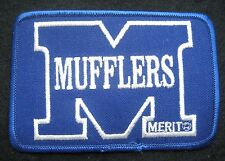 """MERIT EMBROIDERED PATCH CAR MUFFLER RACING AUTO ADVERTISING 4 7/8"""" x 3 1/4"""""""