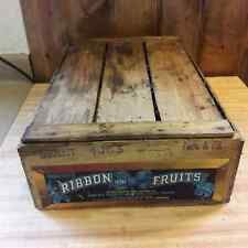Primitive Looking Vintage Wood Fruit Box Crate From Old-Time Farm Auction #5