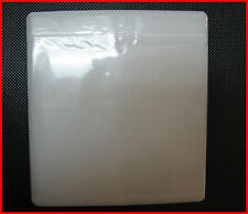 100 DVD Plastic Double Side Sleeve White Aluminum DVD Storage case replacement