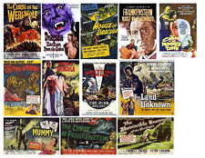 MONSTER MOVIE SET 2 OF 7 (HAMMER) POSTERS PHOTO-FRIDGE MAGNETS