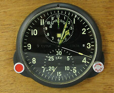 AChS-1 Russian Soviet USSR Military Air Force Aircraft Cockpit Clock MIG/SU #86