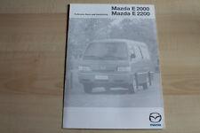 81971) Mazda E 2000 2200 - technische Daten & Ausstattungen - Prospekt 11/1999