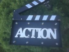 Cool Movie TV Clapboard Hollywood Directors Action Board Clapper With Lights.NEW