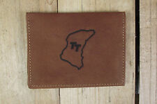 TT Circuit  Brown Leather wallet credit card size, licence / ID holder it126