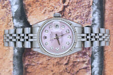 Classic Ladies Pink Diamond Dial Rolex Oyster Perpetual Datejust - Rolex Paper
