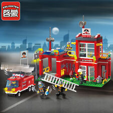 ENLIGHTEN Fire Rescue Bureau Branch Sation Centre Blocks Minifigures Toys Gift