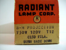 Radiant (ANSI CODE DEJ) Projector Projection Lamp Bulb 750W 120V T12 C13D P