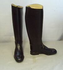 Regent Chaser Leather Long Riding Boots Size 7 Extra Wide Calf