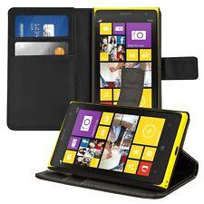 kwmobile Wallet Schutz Hülle für Nokia Lumia 1020 Schwarz Etui Case Kunstleder