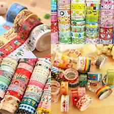 Hot Sale! Catoon 10 Rolls Paper Sticky Adhesive Sticker Decorative Washi Tape