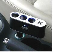 Chargeur allume cigare voiture Multiprise Répartiteur Doubleur 3 Prises + USB