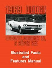 1969 Dodge Coronet Superbee RT Feature Manual