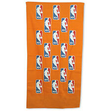 "NBA McArthur Orange Scattered Logoman Design 24 "" X 42""  Bench Towel NEW!"