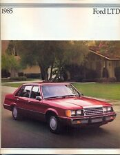 Ford LTD 1985 USA market sales brochure