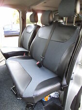 RENAULT TRAFIC SPORTIVE VAN SEAT COVERS- CUSTOM FIT 162+ LEATHERETTE TRIM- S+D
