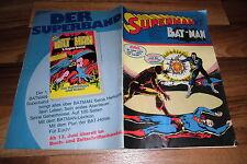 SUPERMAN / BATMAN  # 12 vom 8.6.1974 -- zum GEBURTSTAG ?? / mit Sammelecke