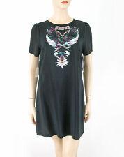 Twelfth Street by Cynthia Vincent Firebird Mini Dress Black M $245 8421 BM6
