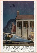 "1920 DAYTON OHIO WRIGHT AIRPLANE COMPANY POSTER AVIATION POSTER 11""x15"""