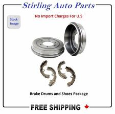 PAIR OF 2 BRAKE DRUMS & 4 BRAKE SHOES SET (REAR) Fits Toyota Echo 02-05 - 35092