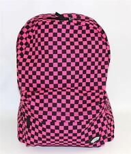 Vans Off The Wall Checkered Outlet Backpack Bookbag Pink Black Check New NWT