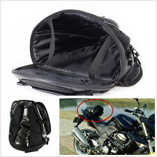 Black Portable Motorcycles ATV Tail Back Seat Storage Tail Bag Shoulder Stocked