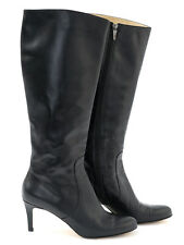 Hobbs Womens Black Italian Leather Knee High Boots Size EU 40 (UK 7)