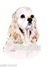 AMERICAN COCKER SPANIEL #2   ACEO Card Print by A Borcuk