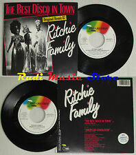 LP 45 7'' THE RITCHIE FAMILY Best disco in town 1987 italy IBIZA cd mc dvd (*)