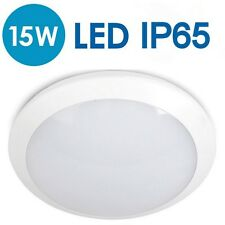 IP65 Indoor Outdoor 15W LED 2D Flush Bulkhead Ceiling Garden Wall Light Patio