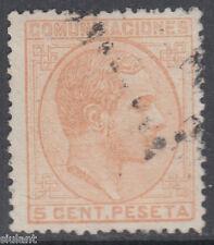 ALFONSO XII - Nº 191 - 5 c. naranja - AÑO 1878 - PRECIO CATALOGO: 17 €UROS