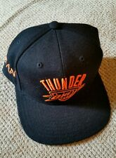 NBA Oklahoma City Thunder Adidas Snapback Hat Cap Black Neon Orange