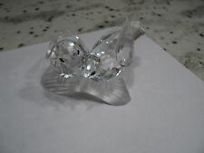 "SWAROVSKI CRYSTAL ""TURTLE DOVES"", SCS 1989 ANNUAL FIGURINE, ""CARING & SHARING"""