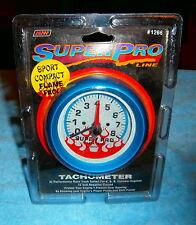 Super Pro Tachometer 3 &1 2 inch Diameter Face 3 & 7/8 in Total Diameter Blue