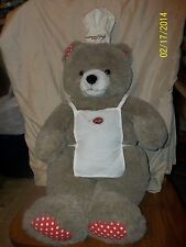 """Vintage 1984 Stouffer's Food Service Bear Plush With Chef Hat & Apron 24"""""""