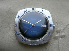 "STUNNING RAREST VINTAGE TIMEX 1969""MOON"" DYNABEAT ELECTRIC,CHROME/SS, NEEDS HELP"