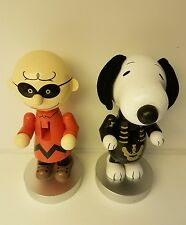 New Peanuts Snoopy Skeleton and Charlie Brown  Nutcrackers 8 1/4""