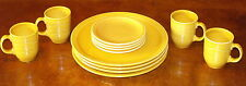 FIESTA COLOR BRIGHT YELLOW SYRACUSE CHINA CO DINNERWARE SET PLATE CUP MUG LOT